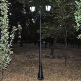 Cадово-парковый светильник PWL 2xE27 IP65-GREEN SQUARE-8061