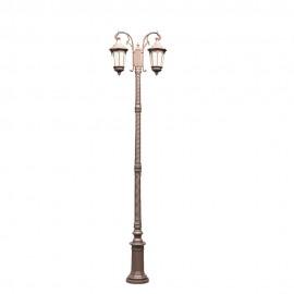Cадово-парковый светильник PWL 2xE27 IP65-GREEN SQUARE-8067