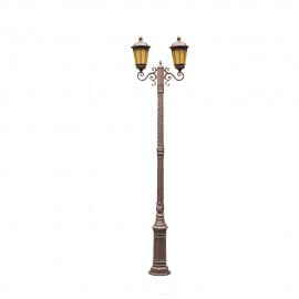 Cадово-парковый светильник PWL 2xE27 IP65-GREEN SQUARE-8072