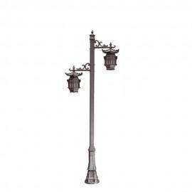 Cадово-парковый светильник PWL 2xE27 IP65-GREEN SQUARE-8077