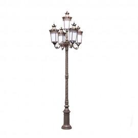 Cадово-парковый светильник PWL 5xE27 IP65-GREEN SQUARE-8079