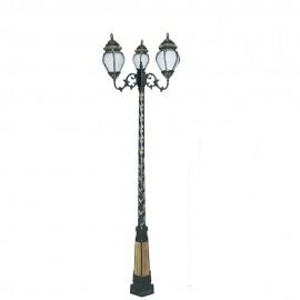 Cадово-парковый светильник PWL 3xE27 IP65-GREEN SQUARE-8081