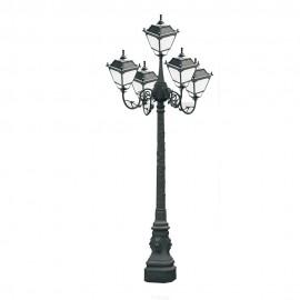 Cадово-парковый светильник PWL 5xE27 IP65-GREEN SQUARE-8093