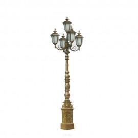 Cадово-парковый светильник PWL 5xE27 IP65-GREEN SQUARE-8096
