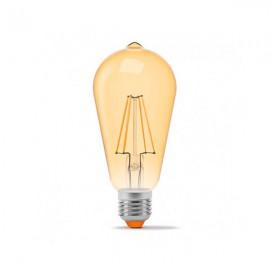Лампа светодиодная VIDEX filament ST64FAD 6W E27 2200K 220V бронза