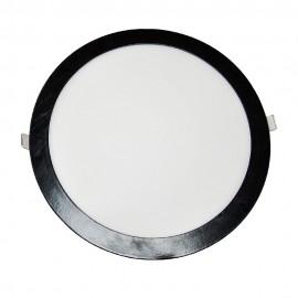 Светильник встраиваемый светодиодный PWL 24W 4500K IP20 круг BLACK