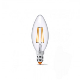 Лампа светодиодная VIDEX Filament C37F 4W E14 4100K 220V