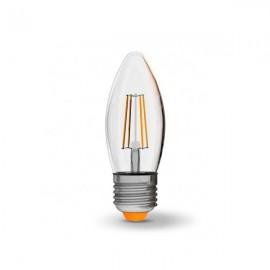 Лампа светодиодная VIDEX Filament C37F 4W E27 4100K 220V