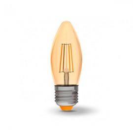 Лампа светодиодная VIDEX Filament C37FA 4W E27 2200K 220V бронза