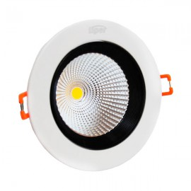 Светильник LED 8W 4000K с отрожателем  круг black TM LIPER