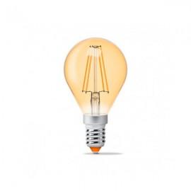 Лампа светодиодная VIDEX Filament G45FA 4W E14 2200K 220V бронза