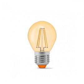 Лампа светодиодная VIDEX Filament G45FA 4W E27 2200K 220V бронза
