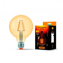 Лампа светодиодная VIDEX Filament G95FD 7W E27 4100K 220V димерная