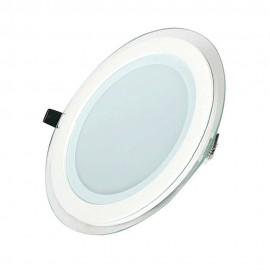 Светильник светодиодный 12W круг 4500K + стекло TM POWERLUX