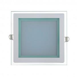 Светильник светодиодный 12W квадрат 3000K + стекло TM POWERLUX