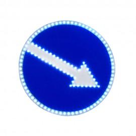 Светодиодный дорожный знак PWL 24W Объезд препятствия с правой стороны