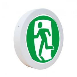 Светодиодный светильник накладной POWERLUX 18W 4500K круг бегущий человек влево