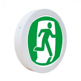 Светодиодный светильник накладной POWERLUX 18W 4500K круг бегущий человек вправо